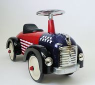 PedalCar  Speedster USA Flag Scootster Foot to Floor Ride On