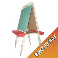 BEKA Ultimate Easel, chalkboard, marker board, plastic trays, cutter