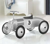 Morgan Cycle Silver Streak Race Car Foot to Floor Ride on Toy