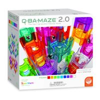 Q-BA-MAZE 2.0 Spectrum Marble Run Set by Mindware